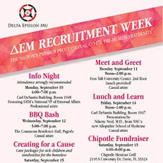 Delta Epsilon Mu Recruitment Week