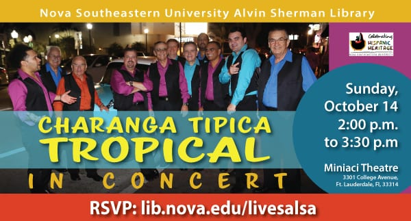 Hispanic Heritage Month: Charanga Tipica in Concert