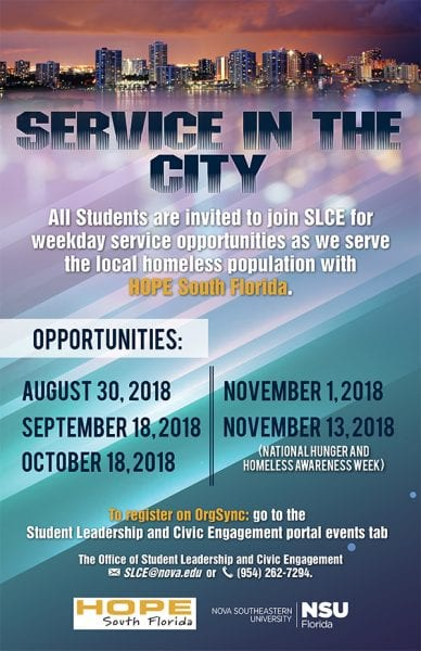 Service In The City Fall 2018