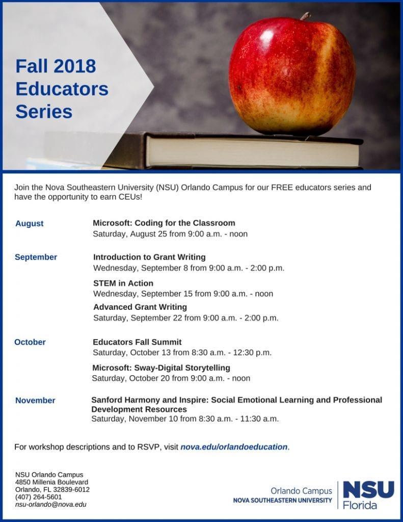 Orlando--Fall 2018 Educators Series