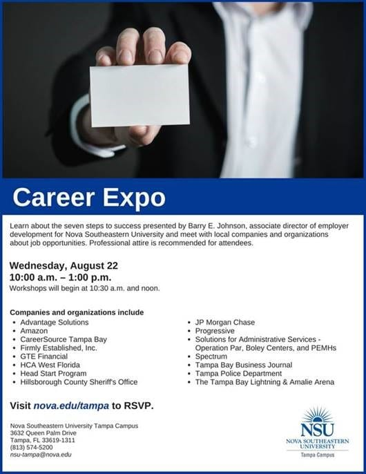 Tampa--Career Expo Aug. 22