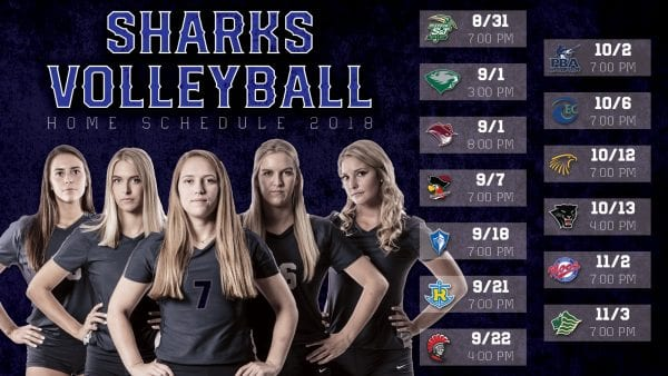 Women's Volleyball Schedule