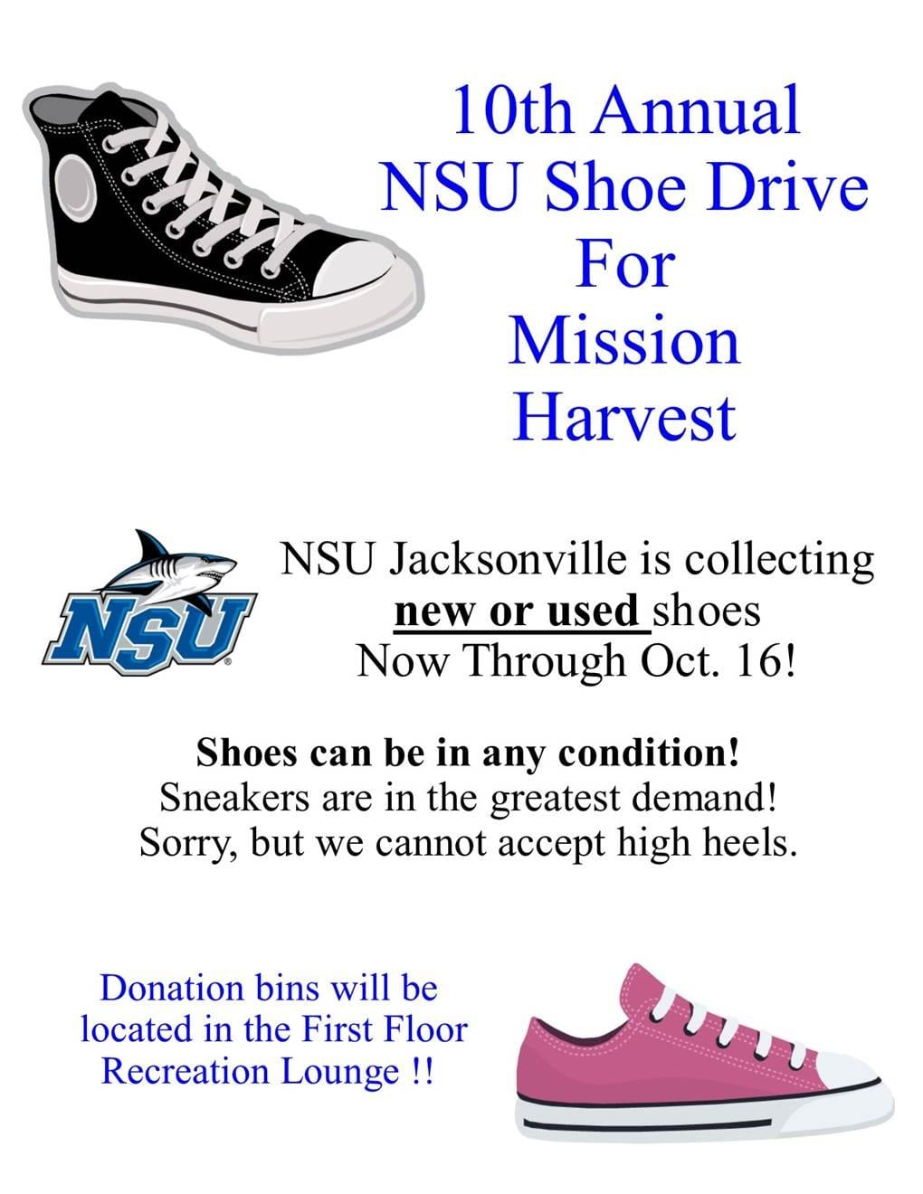 10th Annual NSU Shoe Drive