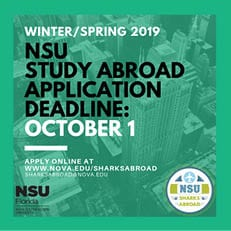 Winter/Spring 2019 Study Abroad Application Deadline