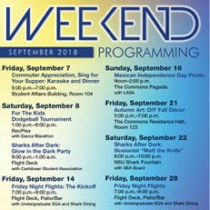 Weekend Programming September 2018