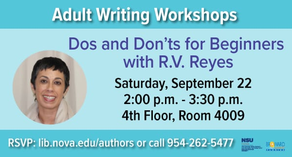 Adult Writing Workshop - Dos and Don'ts for Beginners with R.V. Reyes