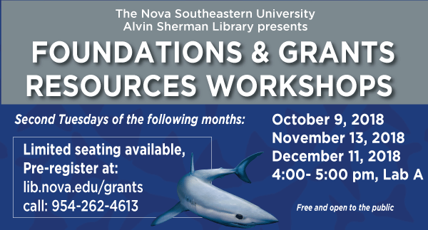 Foundation & Grants Resources Workshops