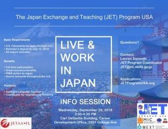 Japan Exchange and Teaching Program Information Session (Sept. 26)