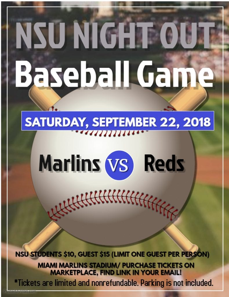Palm Beach--NSU Night Out: Mars vs. Cincinnati Reds