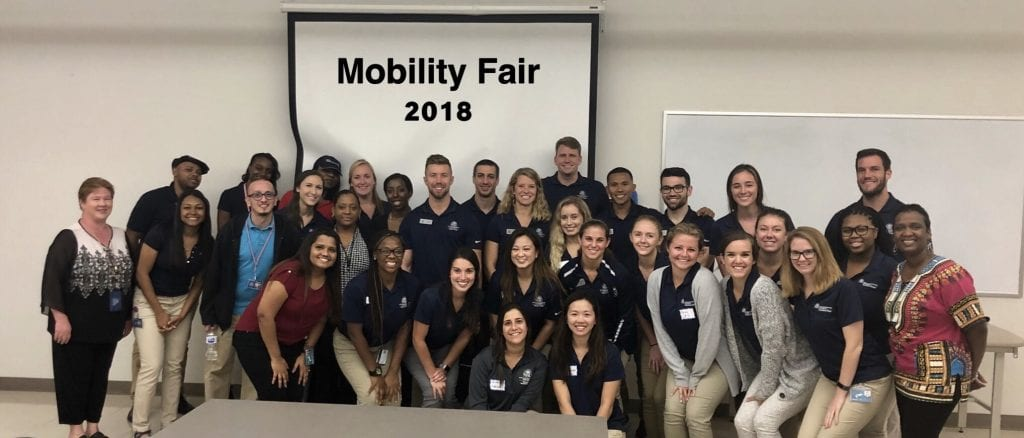 Mobility Fair 2018 - PT, OT and PTA Faculty and Students