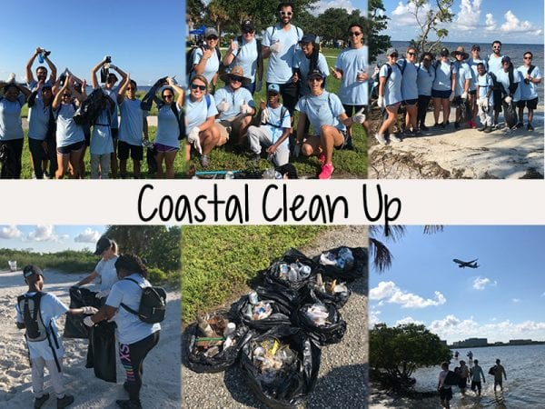 Tampa Sharks Beautify the Bay: Coastal Cleanup