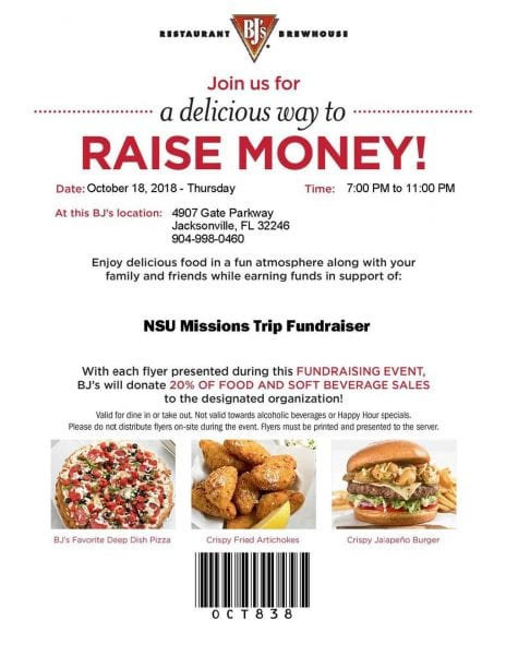 PA Mission Trip Fundraiser at BJ's Brewery