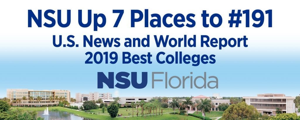 NSU Moves Up Seven Spots in U.S. News & World Report's 2019 Best Colleges List