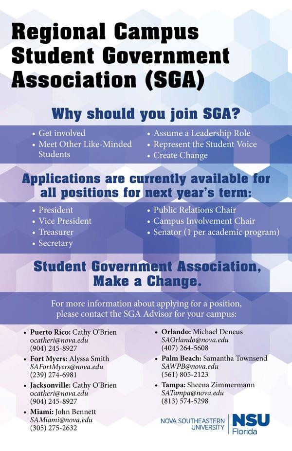 Join Regional SGA