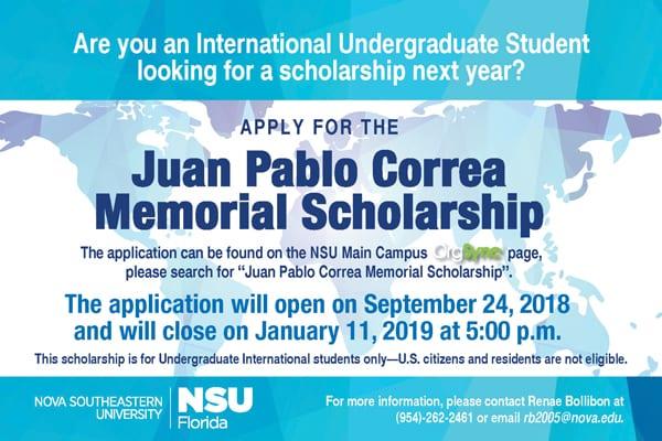 Juan Pablo Correa Memorial Scholarship
