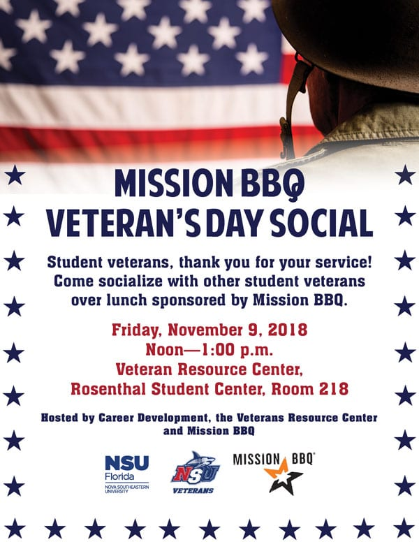 Mission BBQ Veteran's Day Social