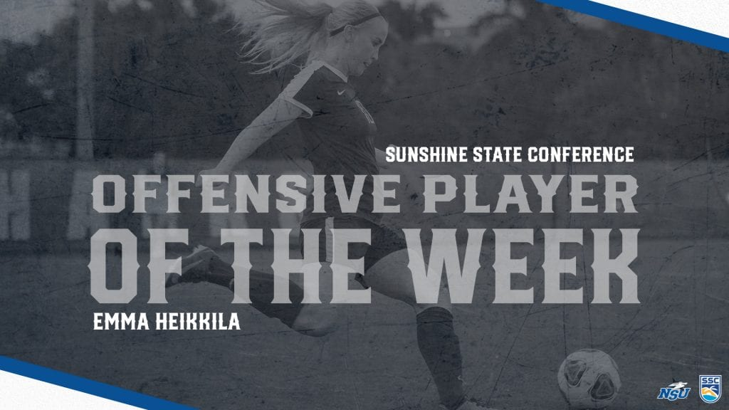 Heikkila Honored as SSC Offensive Player of the Week