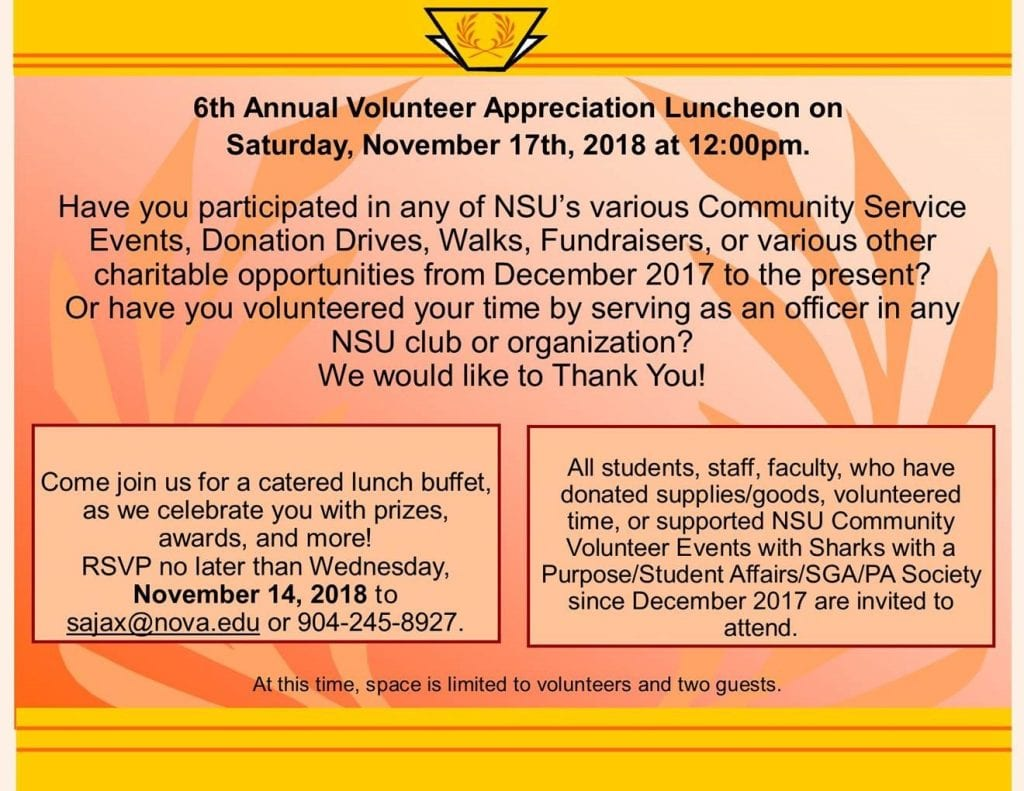 6th Annual Volunteer Appreciation Luncheon