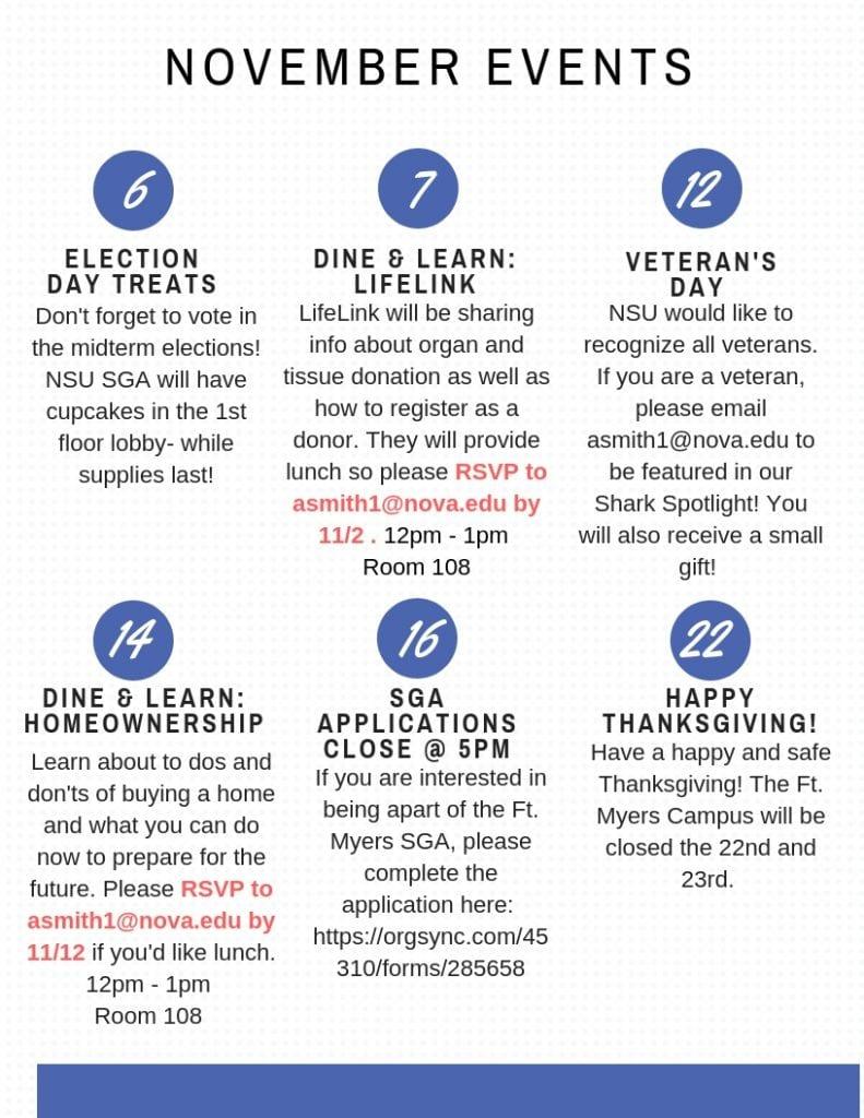 Fort Myers--Calendar of Events November 2018