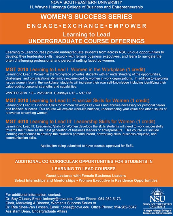 Women in EntrepreneurshWomen's Success undergraduate coursesip Week Event
