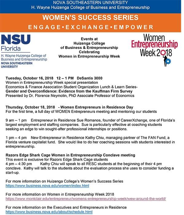 Women in Entrepreneurship Week Event