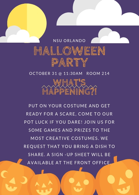 Orlando--Halloween Party