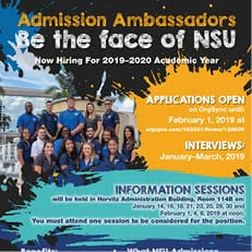 Admissions Ambassador: Be the Face of NSU