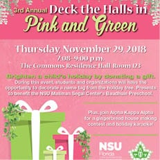 3rd Annual Deck the Halls in Pink and Green (Nov. 29)