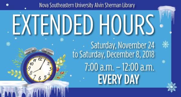 Alvin Sherman Library Extended Hours