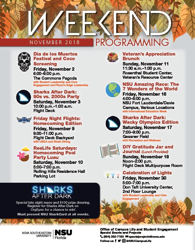 Weekend Programming - November 2018