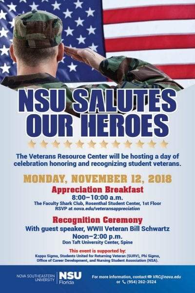 NSU Salutes Our Heroes