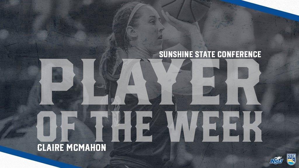 McMahon Earns SSC Defensive Player of the Week Laurels