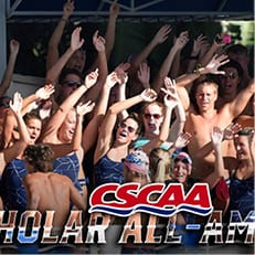 Swimming Earns CSCAA Scholar All-America Recognition