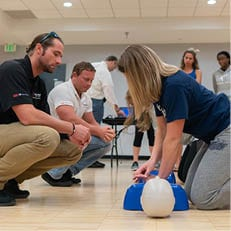 Sharks Gain Valuable Sports-Focused CPR and AED Experience