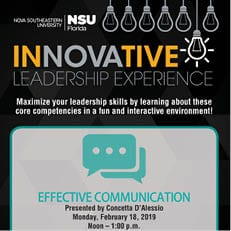 Innovative Leadership Experience - Effective Communication (Feb. 18)