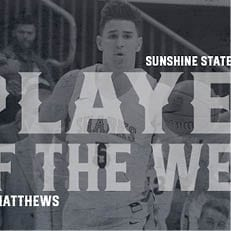 Matthews Reels in SSC Player of the Week Award