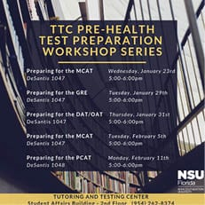 Pre-Health Test Preparation Workshop Series