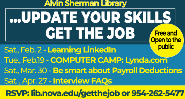 Alvin Sherman Library - Update Your Skills, Get the Job
