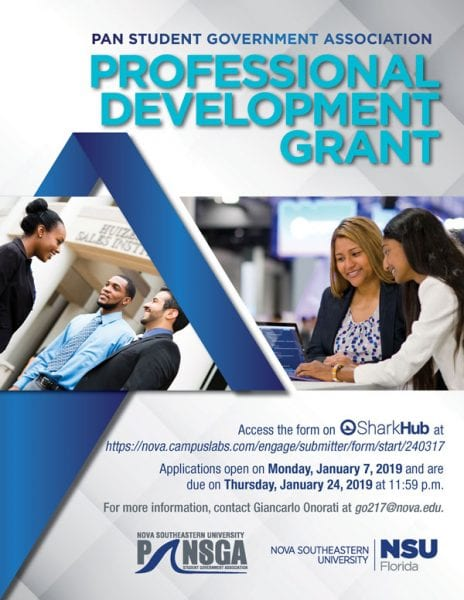 PANSGA - Professional Development Grant Application 2019 Now Open