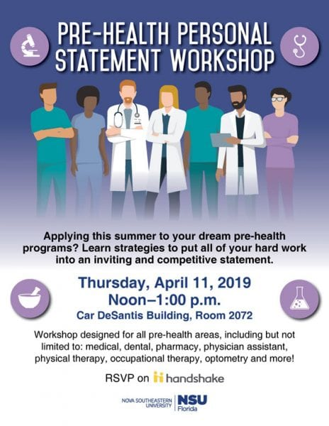 Pre-Health Personal Statement Workshop