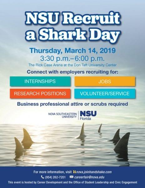 NSU Recruit a Shark Day Winter 2019