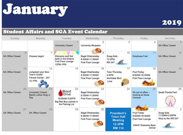 Palm Beach--January Calendar of Events