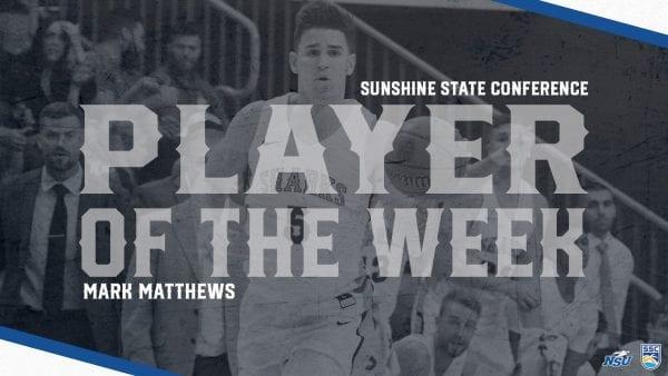 Matthews Reels in SSC Player of the Week Award