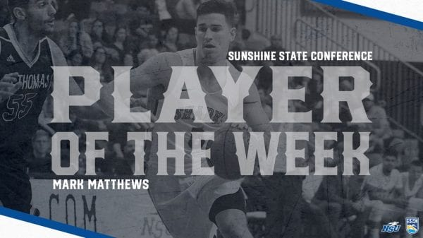 Matthews Garners SSC Defensive Player of the Week Honor