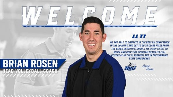 Brian Rosen Named NSU's Head Volleyball Coach