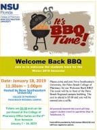 Welcome Back BBQ Flyer 2019