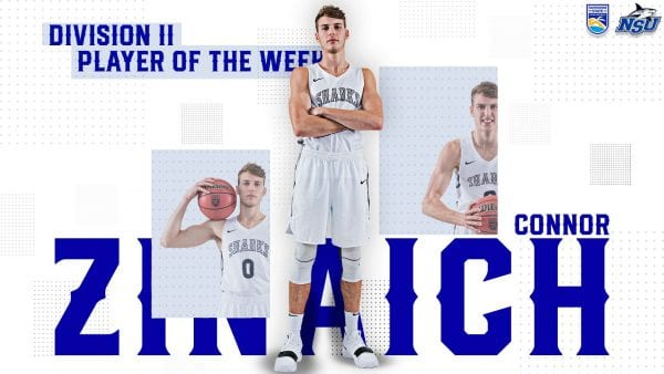 Zinaich Named USBWA National Player of the Week