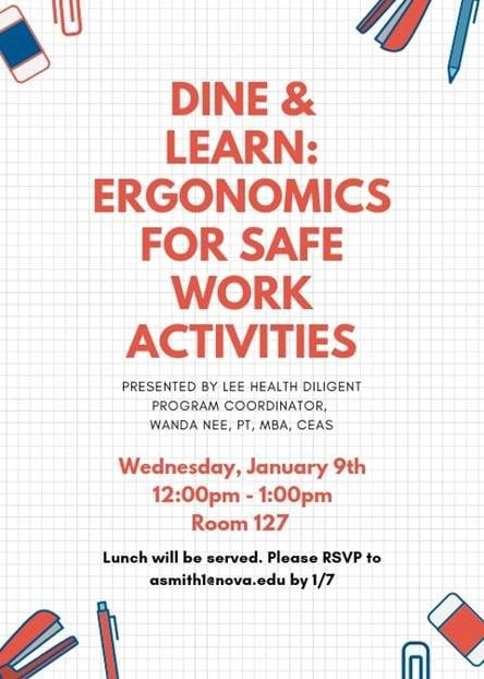 Dine and Learn: Ergonomics for Safe Work Activities