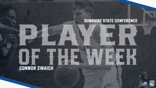 Zinaich Hauls in Second Consecutive SSC Player of the Week Honor
