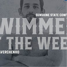 Averchenko Named SSC Swimmer of the Week